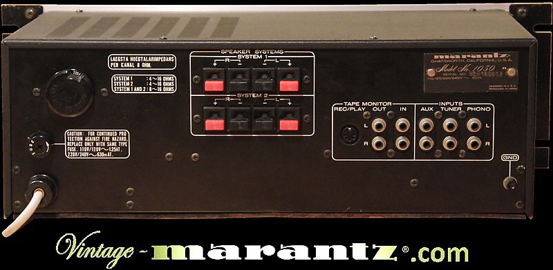 Marantz 1050 Rack Version  -  vintage-marantz.com